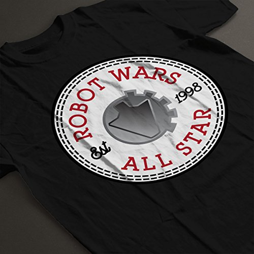 Robot Wars Logo All Star Converse Men's T-Shirt Black