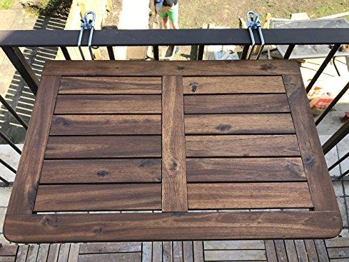 Click deck tavolo da balcone in legno massiccio tavolo - Ringhiera in legno per giardino ...