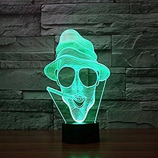 3D Lamp,Alisabler Amazing 3D Illusion Light Smoking Ghost Illuminated LED Desk Lamp Night Light (goldfish)