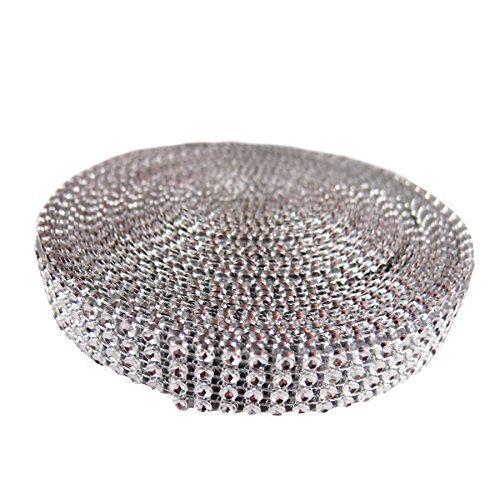 4 Row Acrylic bling (looks like Rhinestone) Diamond Cake Ribbon Banding 10 Yards by Angel Isabella