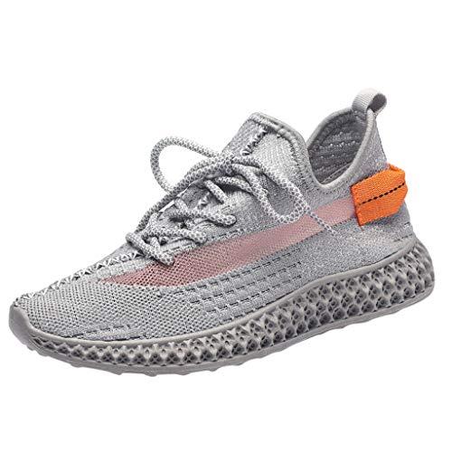 LANSKRLSP Scarpe Antinfortunistiche Donna Scarpe da Lavoro con Punta in Acciaio Leggere Traspiranti Sneaker da Lavoro Leggere ed Eleganti Scarpe Sportive di Sicurezza