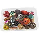 [Sponsored]eshoppee Set Of 25 Pcs Lakh Beads For Jewellery Making Art And Craft Diy Project Kit (multi)