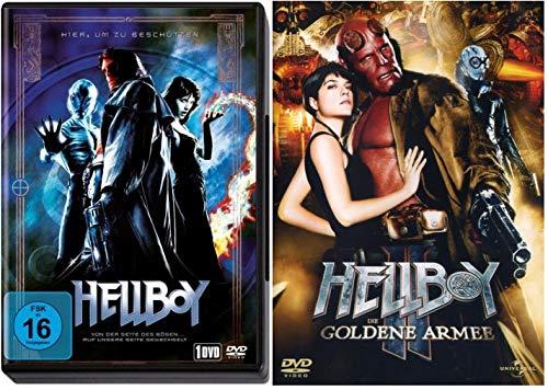 Hellboy & Hellboy II (Die goldene Armee) im Set - Deutsche Originalware [2 DVDs]