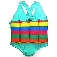 Traje de baño con flotador para niños, flotabilidad ajustable, Rainbow Streams
