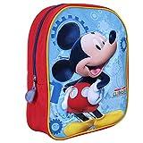 Kinder Rucksack für Jungen Disney Mickey Mouse - Schulranzen mit Motiven aus Micky Maus Wunderhaus - Schulrucksack für Schule und Kindergarten mit Verstellbaren Schulterriemen - Perletti 23x30x10cm