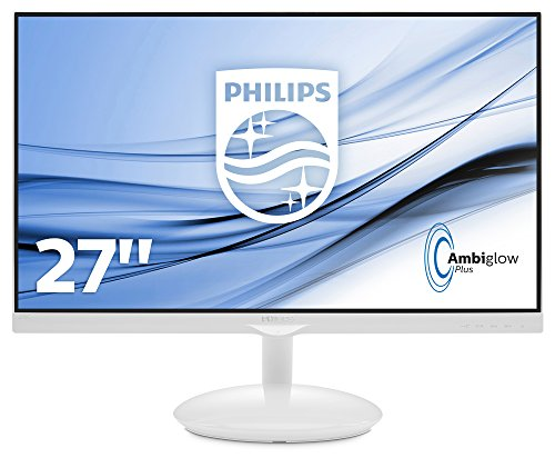 Philips 27-Inch Moda LCD Monitor with 275C5QHGSW/00 Ambiglow Plus Base - Black