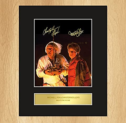 Michael J. Fox Christopher Lloyd Signed Mounted Photo Display Back To The Future by My Prints