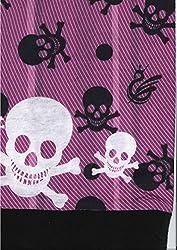 Multifunction Half Fleece Neckwarmer, Snood, Hat, Scarf and Hood with Purple skull print by Monogram