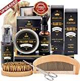 Beard Kit for Men Grooming & Care W/Beard Shampoo Oil Balm Comb Brush