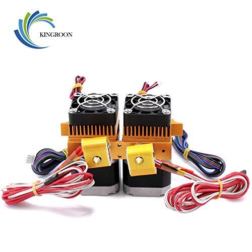Hengyuanyi MK8 Makerbot Extruder Hotend - Cabezal de impresión doble para impresora 3D (12 V/24 V, 0,4/1,75 mm)