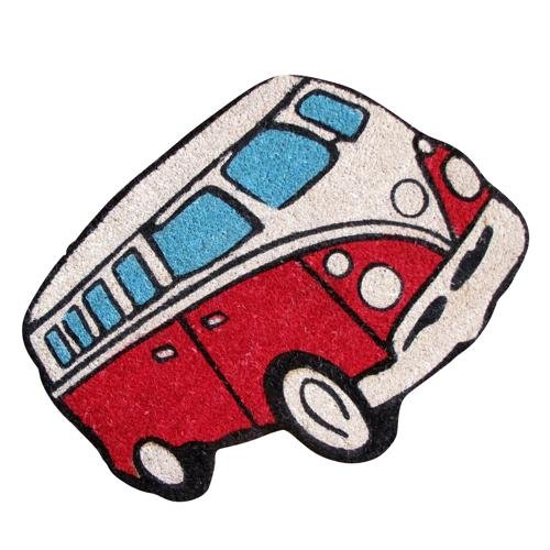 Felpudo Forma Retro De furgoneta Volkswagen Van Home regalo–rojo