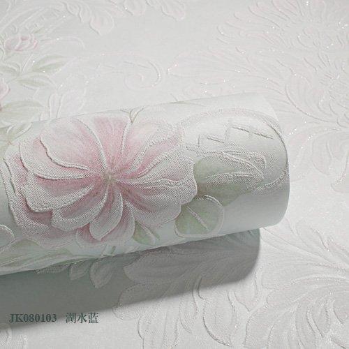 Sfondo idilliaco studio stereo in camera da letto matrimoniale continental soggiorno goffrato del panno non tessuto carta da parati ,JK080103