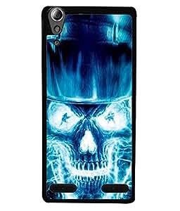 FUSON Designer Back Case Cover for Lenovo A6000 :: Lenovo A6000 Plus :: Lenovo A6000+ (Death Stroke Human Skull Back Bones)
