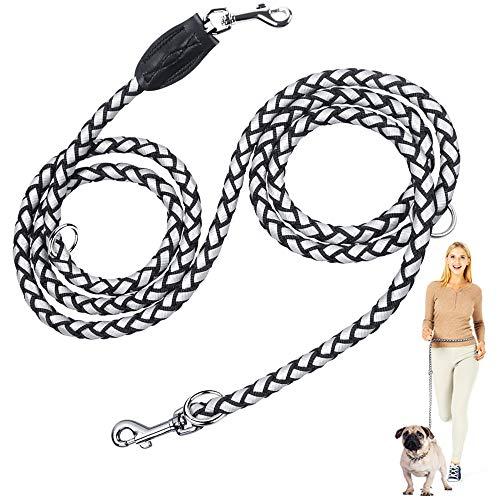 Peteast Guinzaglio per cani, guinzaglio regolabile per cani 2,5 m, mani libere, guinzaglio per cani da passeggio per cani piccoli, medi e grandi