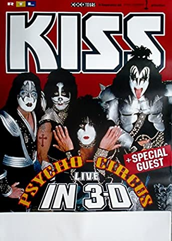 Kiss – 1999 – Tour Poster – In Concert – Psycho Circus Tour Poster