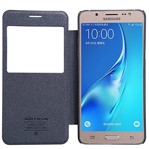 Nillkin Sparkle Series Window Leather Flip Case Cover for Samsung Galaxy J5