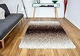 "Modern 160x230cm Large Beige Brown 3 Tone Mix Shaggy Area Rugs Mat 5cm Thick Soft Shag Pile Mats Carpet Bedroom Living Room Lounge Rug (160x230cm (5'3""x7'7""), Beige/Brown)"