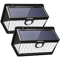 Mpow Basics Luz Solar de Pared 63LED, 3 Modos, PIR Sensor de Movimiento Sensible y 270° Ángulo de Iluminación, Foco Solar de Exterior Impermeable IP65 para Jardín, Garaje, Camino