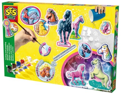 SES Creative Fantasy Horses Plaster Casting and Painting Kit by The Sales Partnership Distributors Ltd