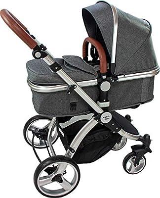 ib style®SUPREME 2 in 1 Kinderwagen | Buggy | Zusammenklappbar | Sitzrichtung verstellbar | 0-15kg |Grau