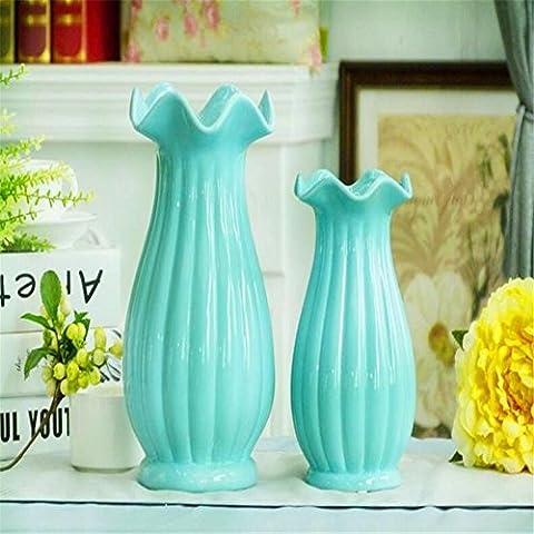 LXTX European - Style Retro Belly Pot Vase Flower Can Store High - Temperature Porcelain Vase ,