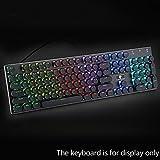 Beautyrain 104Pcs ABS Runde Key Caps Hintergrundbeleuchtung für Querachse mechanische Tastatur (schwarz)