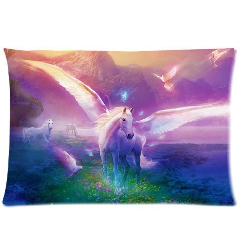 Casebynow Custom Unicorn Personalized Queen Size(20x30) 300 Thread Count Pillow Cover