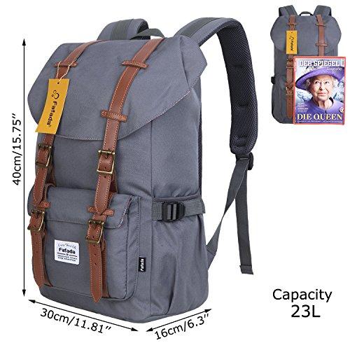 Imagen de fafada unisex  causal nylon hombres la sara  saco de viaje la bolsa de ordenador 23l gris alternativa