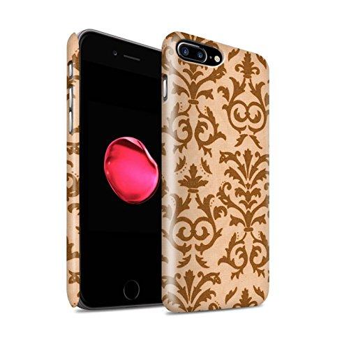 STUFF4 Matte Snap-On Hülle / Case für Apple iPhone 8 Plus / Lila Muster / Blättern Sie Muster Kollektion Orange