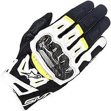 Alpinestars Guantes para moto Smx-2 Air Carbon V2, colornegro, blanco y amarillo fluorescente, tallaM