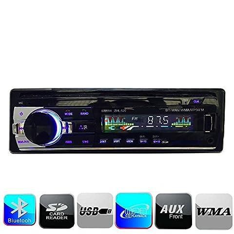 CCRoom Autoradio Auto-Stereoanlage - Einzelne Din-Stecker-Version - Bluetooth am Armaturenbrett - Fernbedienung - Digitaler Medienempfänger - USB / SD / Audio-Empfänger / MP3-Player / UKW-Radio