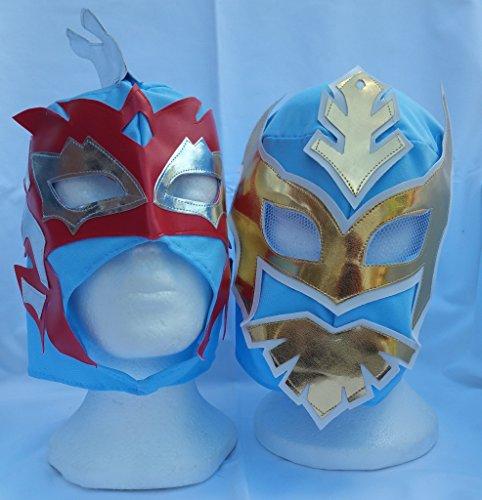cielo-azul-mascaras-de-lucha-sin-cara-y-kalisto-lucha-dragones-equipo-de-la-etiqueta-de-la-infancia-