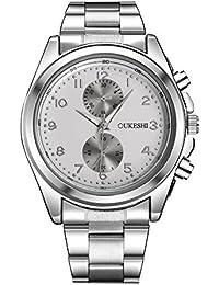 XWAN-reloj de hombre de alta calidad de moda de banda de acero inoxidable resistente
