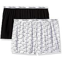 سروال نسائي قصير للنوم من Calvin Klein Black/White With Script X-Large