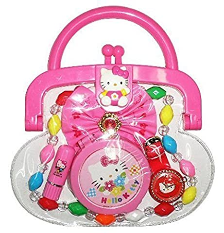 Hello Kitty Purse with Necklace, Mirror, Lipstick & Other Accessories by Hello Kitty