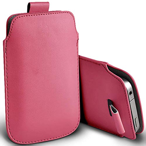 Price comparison product image I-Sonite (Baby Pink) Premium Slip In Pull Tab Sleeve Faux Leather Pouch Case Cover For Apple iPhone 8 Plus [XXXL]