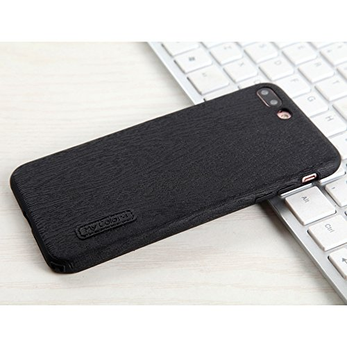 "MOONCASE iPhone 7 Plus/iPhone 8 Plus Hülle, Weich TPU Kratzfest Stoßfest Schutztasche [Fabric Pattern] Schroff Rüstung Handysocken Case für iPhone 7 Plus/iPhone 8 Plus 5.5"" Dark Blue-2 Black"