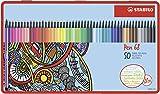 STABILO Pen 68 - Premium-Filzstift - 50er Metalletui - mit 46 verschiedenen Farben