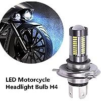 FEZZ 1000LM Extremely Bright Motorcycle LED Headlight Bulb Hi Lo Beam, H4 HS1 9003 HB2, 33W White for Yamaha Suzuki Kawasaki
