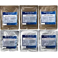 Pack of 6 Ready to Eat Camping Food Pouched Meals.
