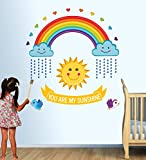 Decals Design 'You are My Sunshine Rainb...
