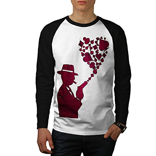 Gángster As Póker Casino Rosado Disparo Men XXL Baseball LS T-shirt | Wellcoda (T-shirt Poker Anzug)
