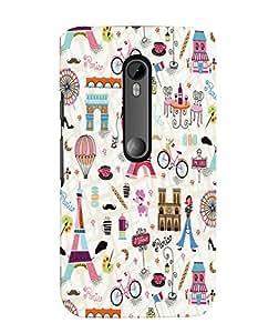 Citydreamz Paris/Eiffel Tower/Love/Romance/Travel Hard Polycarbonate Designer Back Case Cover For Motorola Moto G Dual SIM (Gen 3), Motorola Moto G3 Dual SIM