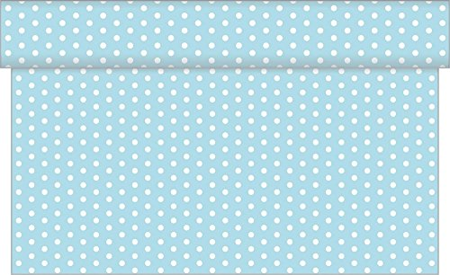 Sovie HORECA Linclass® Airlaid Tischläufer Iris | Hellblau | 40cm x 24m | Frühlingsfeste und Geburtstage | 1 Stück (Iris Rollen)