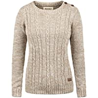 Desires Phia Hiver Pull en Grosse Maille Pull-Over Tricot pour Femme100% Coton
