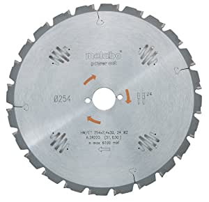Metabo 628005000 Lame HW/CT pour scie circulaire 190 x 30 x 2.2/1.4, 14 dents, angle 25° (Import Allemagne)