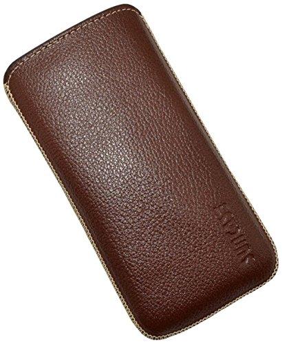 Suncase ® 42413355 Étui pour iPhone 5 de style vintage - Marron foncé Full Grain-Brown