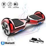 COLORWAY Hoverboard 6.5 Pouces,Intelligent Self-balance Gyropode avec Bluetooth&LED, Scooter...