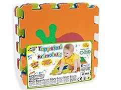 Idea Regalo - Teorema 72475 - Tappeto Puzzle con Animali, colori assortiti, 9 pezzi