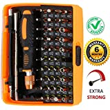 DOCOSS - 53 in 1-Precision Magnetic Screwdriver Set Kit Household Repair Home Tool Kit Screw Driver Set with Tweezer for PC,Laptop Repair, Spectacles, Mobile Phone, Watch, Electronics,Camera